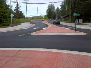 Northwest Road Roundabout pervious concrete by Custom Concrete Contracting resized 600