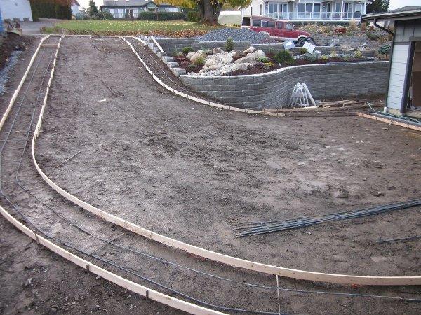 Custom driveway construction, Whatcom County