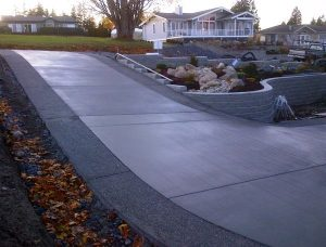 Decorative driveway installation, Whatcom County