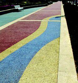 Pervious concrete colors