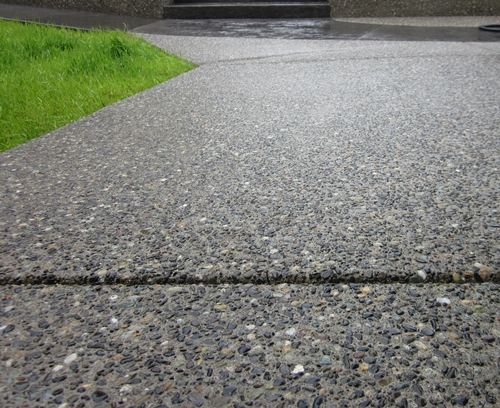 Exposed Aggregate Sidewalk Detail