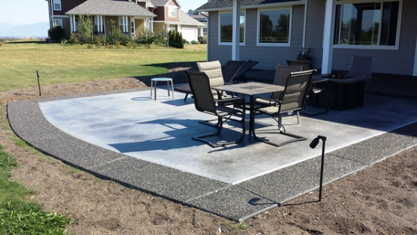 Using decorative concrete to expand outdoor living areas