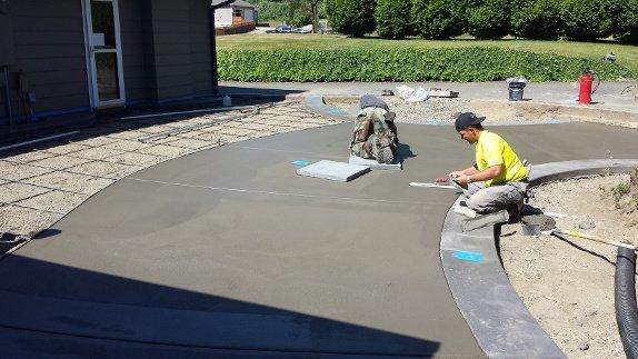 Concrete Patio Replaces Wood Decking