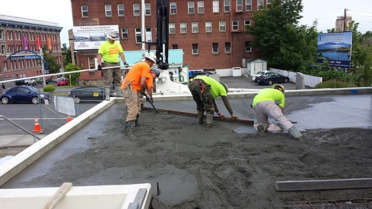 Feature Project: Installing concrete at Bellingham Co-Op Bakery
