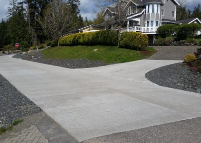 Pervious concrete test road in Bellingham, WA