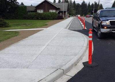 Pervious concrete sidewalk installation