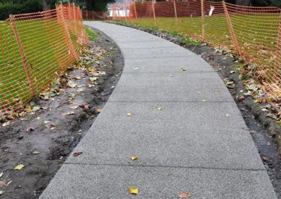 Pervious concrete sidewalks in public spaces