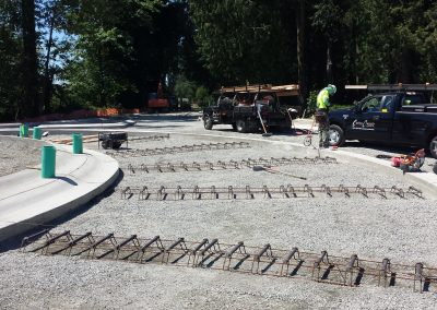 On the job, building a concrete traffic circle near Sedro Woolley