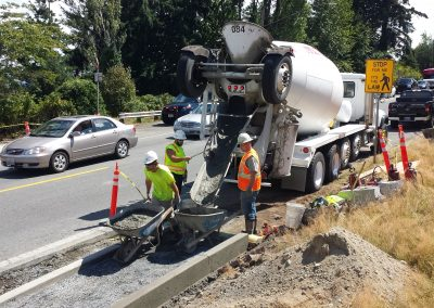 Building new concrete sidewalks in Skagit County
