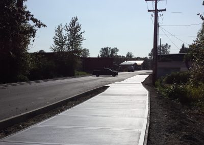 Sidewalk installation near Sedro Woolley, WA