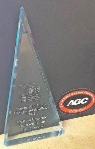 AGC award, September 2016