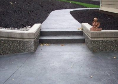 Stamped concrete with texture