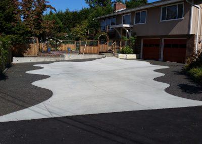 Decorative concrete driveway near Bellingham, WA