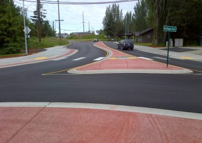 Northwest Road Roundabout - pervious concrete by Custom Concrete Contracting