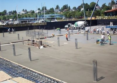 Parking garage concrete slab contractor, Bellingham, WA