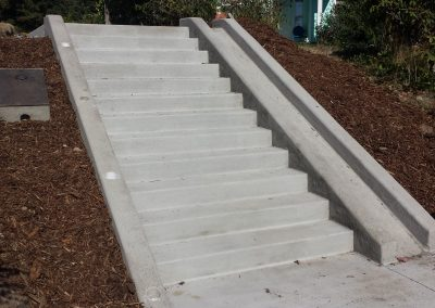 Westridge staircase and bike ramp project near Barkley Village