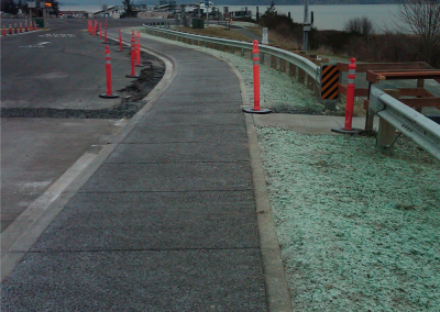 Public works projects that use pervious concrete