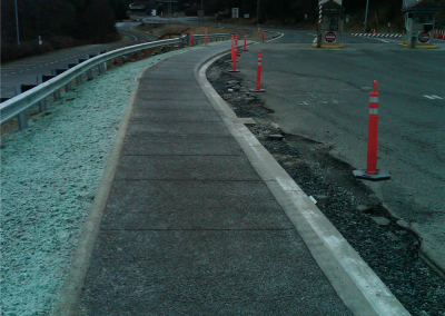Curb and gutter; pervious concrete installation