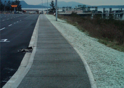 Pervious concrete used at Anacortes/San Juan Island ferry terminal