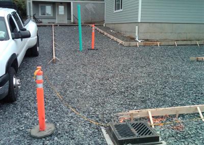 Installing concrete near Bellingham, WA