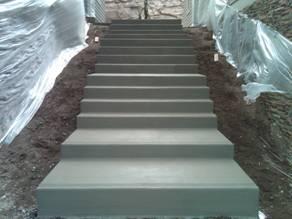 Custom Concrete Steep Driveway