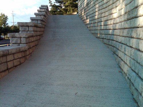 Feature Project: Concrete driveway built on steep property