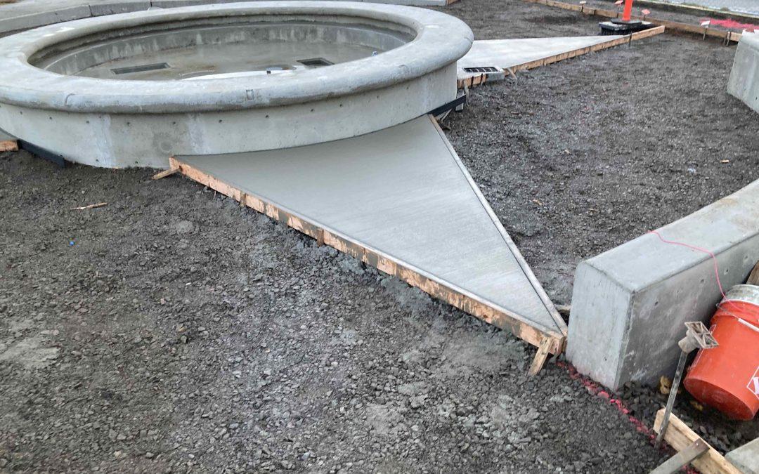 Custom Concrete helps create signature fountain in Bellingham